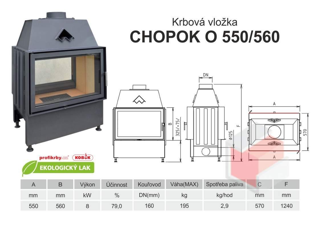 Krbová vložka CHOPOK 550 560 O oboustranná