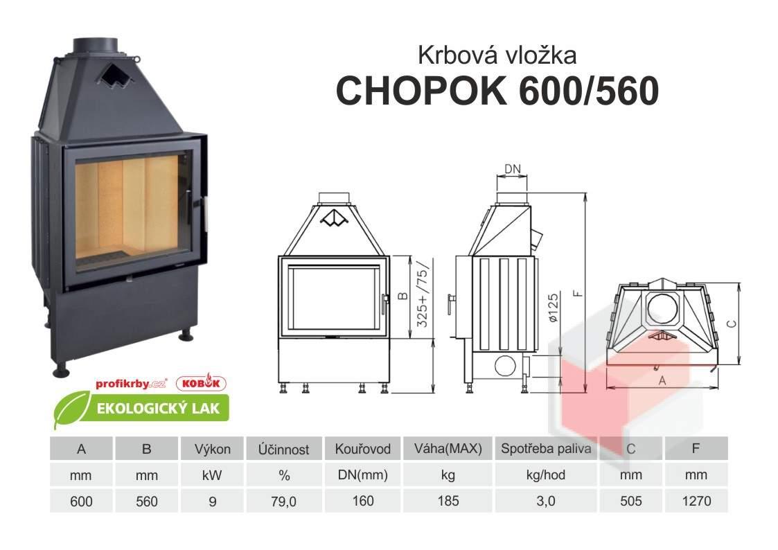 Krbová vložka CHOPOK 600 560