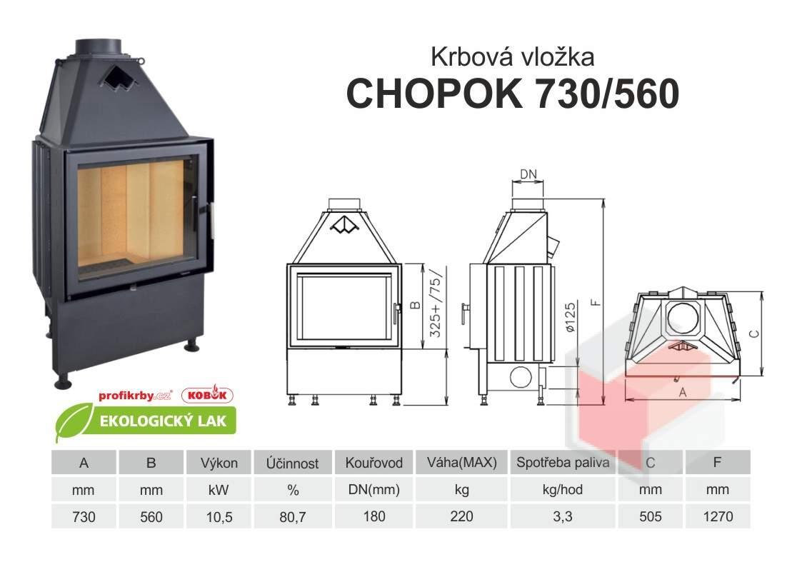 Krbová vložka CHOPOK 730 560