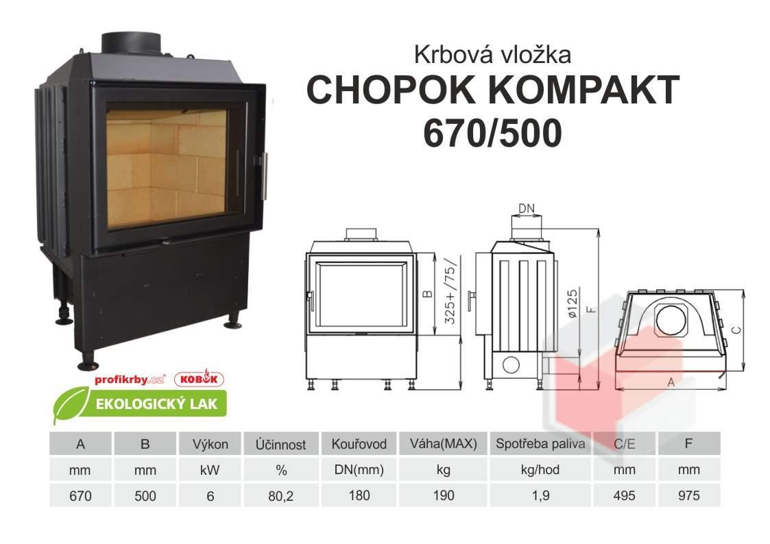 Krbová vložka KOBOK KOMPAKT 670 500