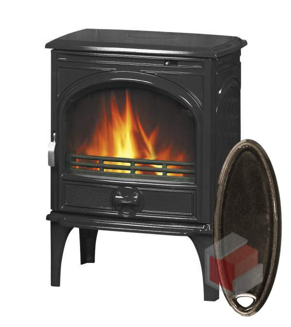 Krbová kamna na dřevo a uhlí litinová 425 GM/E6 smalt hnědá glaz