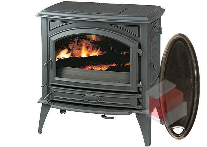 Krbová kamna na dřevo a uhlí litinová 760 GM/E6 smalt hnědá glaz