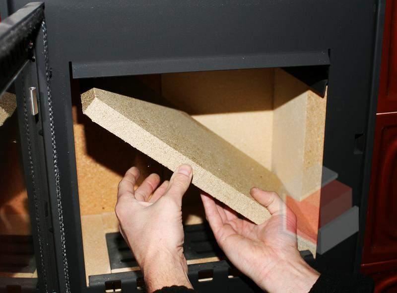 BORGHOLM - strop ohniště - deflektor pro krbová kamna