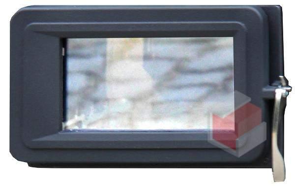 Přikládací dvířka s rámem pro kamna FILEX - prosklená