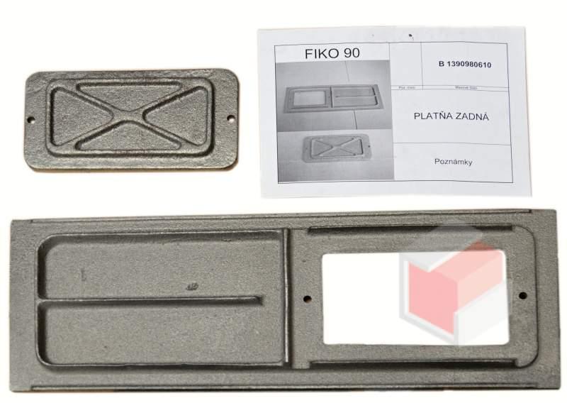 FIKO 60,70,80,90 - litinová plotna 425x150 mm s otvorem