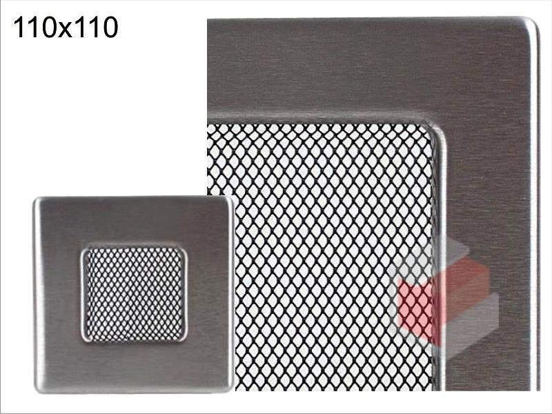 Krbová mřížka broušený nerez N 110x110, Kratki