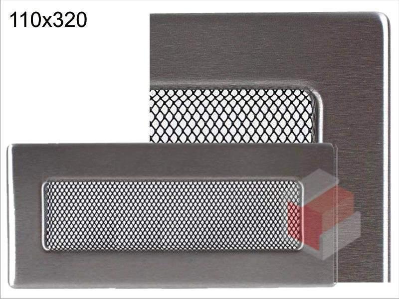 Krbová mřížka broušený nerez N 110x320 Kratki