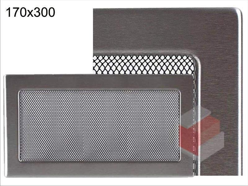 Krbová mřížka broušený nerez N 170x300 Kratki