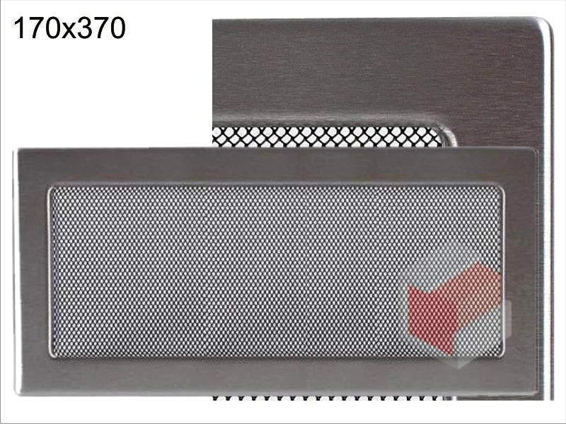 Krbová mřížka broušený nerez N 170x370 Kratki
