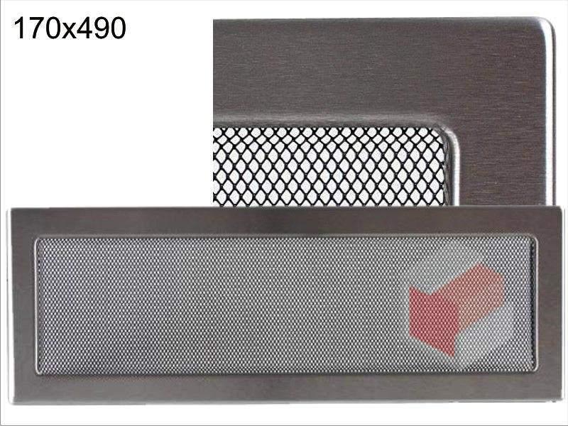 Krbová mřížka broušený nerez N 170x490 Kratki