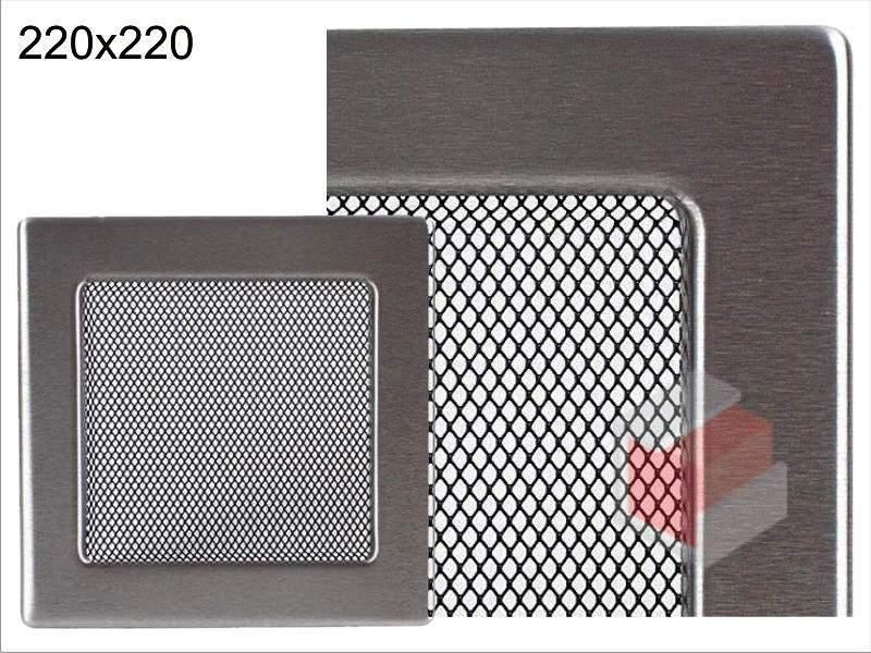 Krbová mřížka broušený nerez N 220x220 Kratki