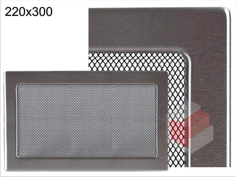 Krbová mřížka broušený nerez N 220x300 Kratki