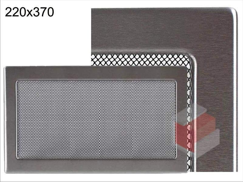 Krbová mřížka broušený nerez N 220x370 Kratki