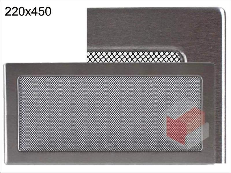 Krbová mřížka broušený nerez N 220x450 Kratki