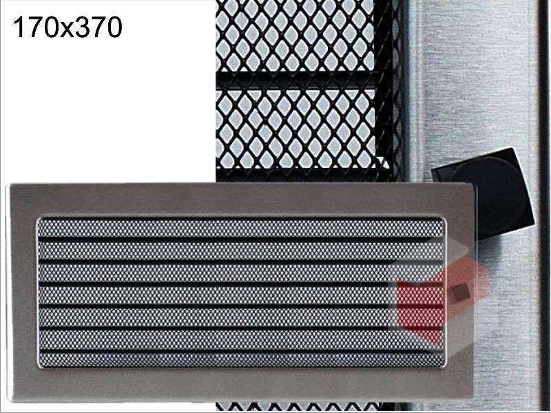 Krbová mřížka broušený nerez žaluziová NZ 170x370 Kratki