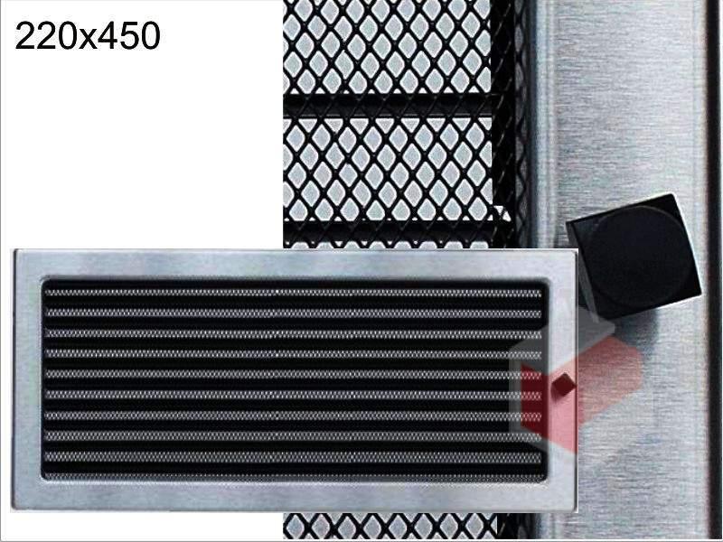 Krbová mřížka broušený nerez žaluziová NZ 220x450 Kratki