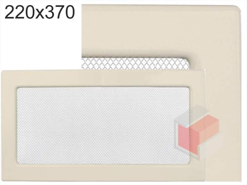 Krbová mřížka lakovaná krémová  220x370