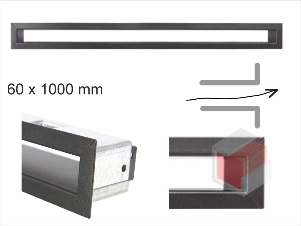 Krbová mřížka grafitová tunelová 60x1000