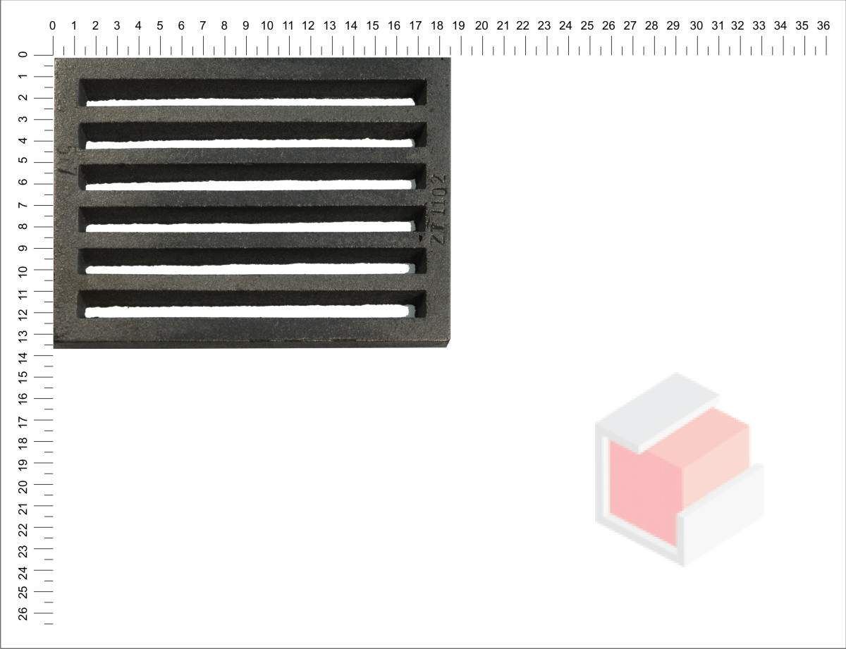 Litinový rošt plochý 5x7 (132x184 mm) tl.10