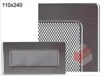 Krbová mřížka broušený nerez N 110x240 Kratki