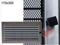Krbová mřížka broušený nerez žaluziová NZ 170x300 Kratki