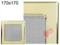 Krbová mřížka pozlacená 170x170