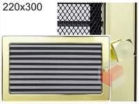 Krbová mřížka pozlacená s žaluzií GZ 220x300