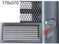 Krbová mřížka Oskar grafit s žaluzií GZ 170x370