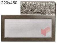 Krbová mřížka lakovaná černo-zlatá  220x450