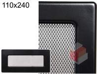 Krbová mřížka černá Č 110x240