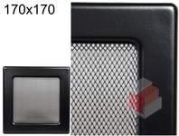 Krbová mřížka černá Č 170x170