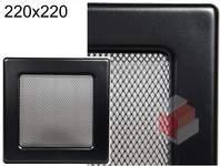 Krbová mřížka černá Č 220x220