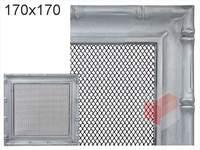Krbová mřížka Diana stříbrná 170x170