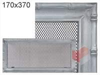 Krbová mřížka Diana stříbrná 170x370