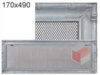 Krbová mřížka Diana stříbrná 170x490