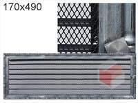 Krbová mřížka Diana stříbrná s žaluzií GZ 170x490