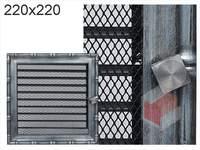 Krbová mřížka Diana stříbrná s žaluzií GZ 220x220