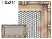 Krbová mřížka Diana zlatá 110x240