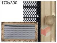 Krbová mřížka Diana zlatá s žaluzií GZ 170x300