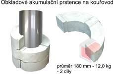 Akumulační prstence na kouřovod průměr 180 mm - 12,0 kg - 2 díly