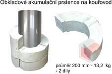 Akumulační prstenec ke kouřovodu průměr 200 mm - 13,2 kg - 2 díl