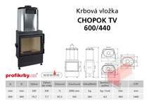 Krbová vložka  CHOPOK 600/440 s výměníkem
