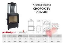Krbová vložka  CHOPOK 730/500 s výměníkem