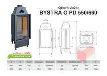 Krbová vložka BYSTRÁ PD 550 660 - přikládací dveře