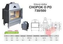 Krbová vložka CHOPOK 730 500 O PD přikládací dveře