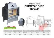 Krbová vložka CHOPOK 780 440 O PD přikládací dveře