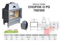 Krbová vložka CHOPOK 780 500 O PD přikládací dveře