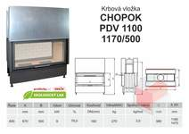 Krbová vložka CHOPOK PD VD 1100 (1170) 500 přikládací dveře, dvo