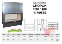 Krbová vložka CHOPOK PD VD 1100 (1170) 560 přikládací dveře, dvo
