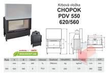 Krbová vložka CHOPOK PD VD 550 (620) 560 s výsuvem, přikládací d